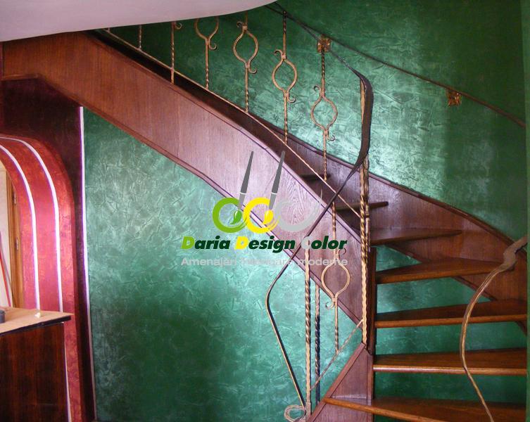Amenajari-interioare-casa-scarii-pereti-Stucco-relief-+Scumble-Glaze