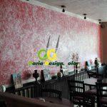amenajari-interioare-cafenea-perete-cu-Stucco-relief-+efect-metalic